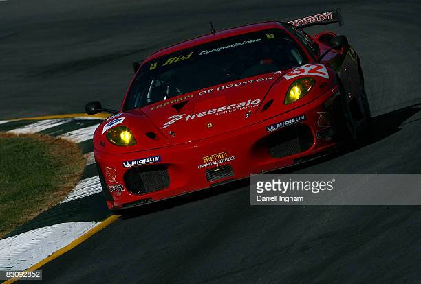 The GT2 Risi Competisione Ferrari 430GT driven by Mika Salo and Jamie Melo during practice for the American Le Mans Series Petit Le Mans on October...