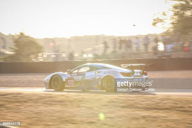 The GTE Am Clearwater Racing Ferrari 488 GTE with drivers Richard Wee /Hiroki Katoh /Alvaro Parente in action during the Le Mans 24 Hours race on...