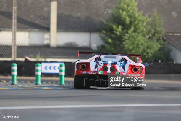 The GTE Pro Ford Chip Ganassi Team UK, Ford GT with drivers Andy Priaulx /Harry Tincknell /Pipo Derani in action during the qualification for the Le...