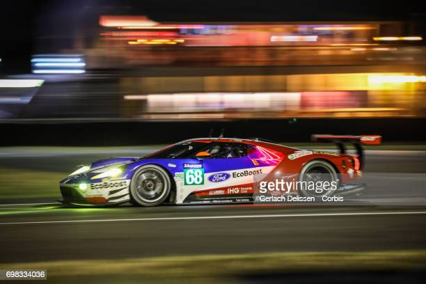 The GTE Pro Ford Chip Ganassi Team UK, Ford GT with drivers Joey Hand /Dirk Muller /Tony Kanaan in action during the Le Mans 24 Hours race on June...