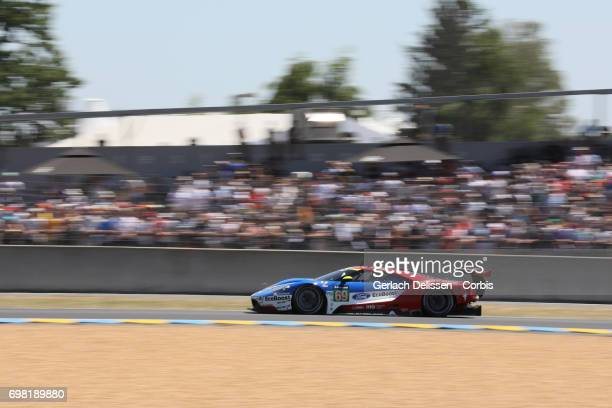 The GTE Pro Ford Chip Ganassi Team UK, Ford GT with drivers Ryan Briscoe /Richard Westbrook /Scott Dixon in action during the Le Mans 24 Hours race...