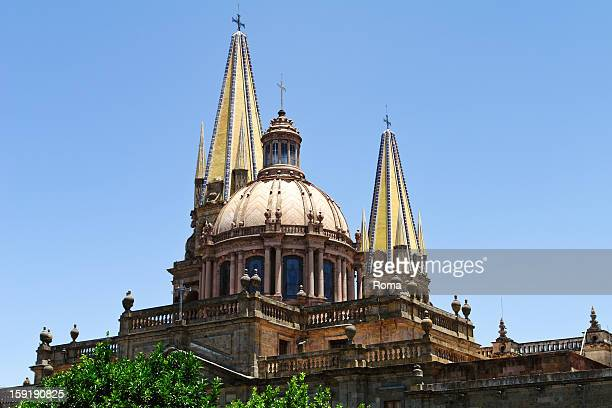 the guadalajara cathedral - guadalajara mexico stock pictures, royalty-free photos & images