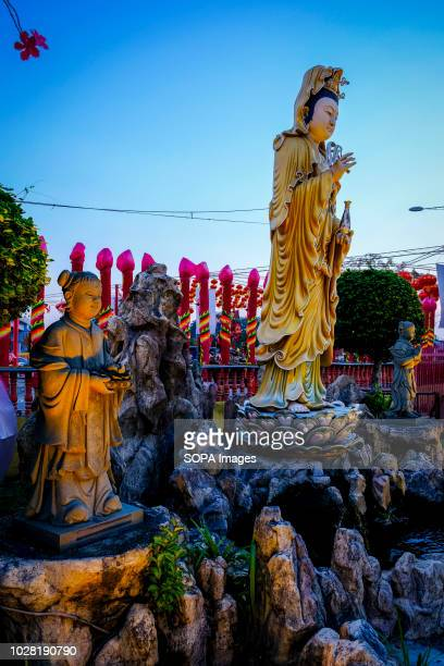 The Guan Yin statues seen during the hungry ghost festival at a temple in Klang The hungry ghost festival was celebrated in Malaysia on the 7th month...