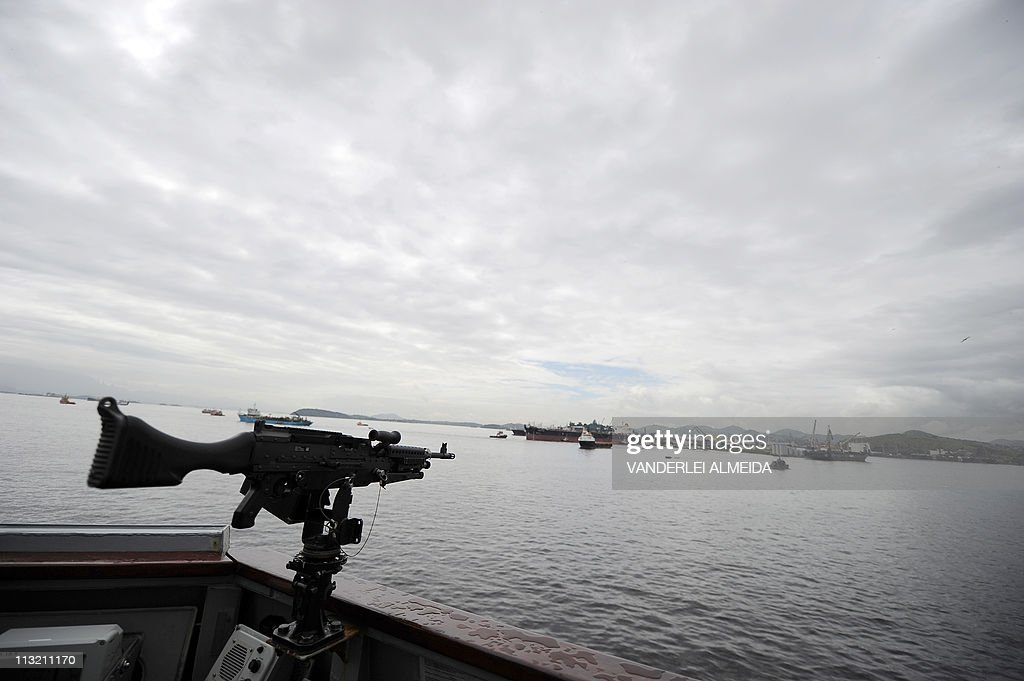 The Guanabara Bay seen from outside the : News Photo