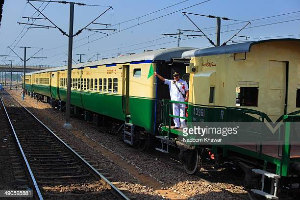 CONTENT] The Guard of Railway steam safari waving green flag to steam off Few years before The Last steam safari was arranged from Lahore Cant...