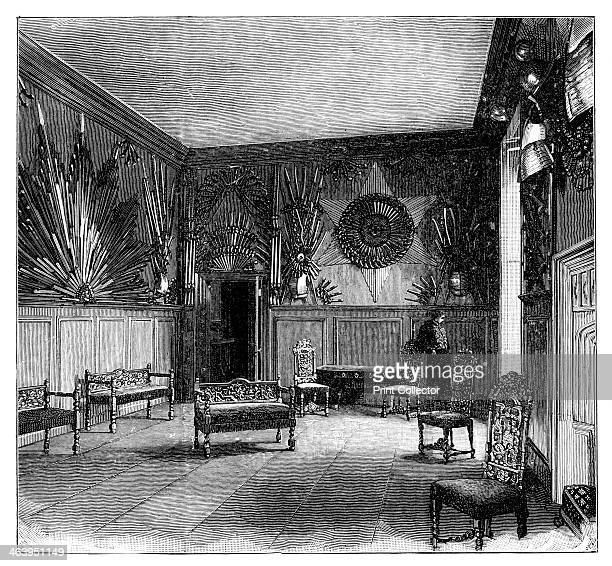 The Guard Room St James's Palace London Engraving from a photograph Illustration from The Life Times of Queen Victoria by Robert Wilson Vol III