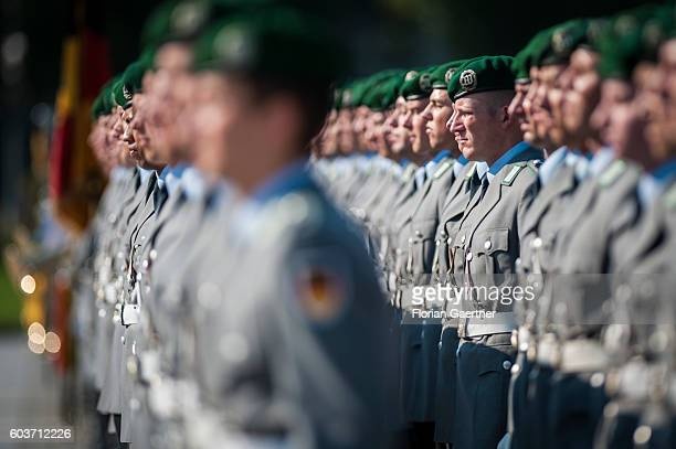 The guards battalion is captured at the German Federal Department of Defense on September 13 2016 in Berlin Germany