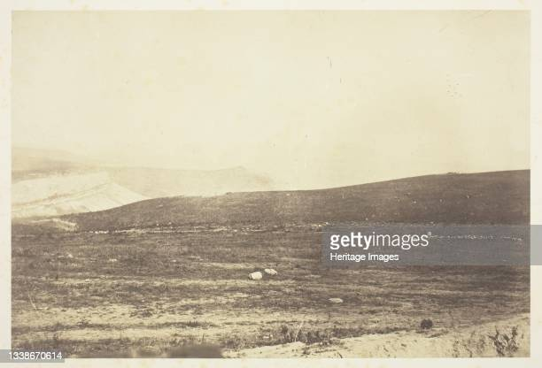 The Guard's Redoubt, Inkermann, 1855. A work made of salted paper print, from the album 'photographic pictures of the seat of war in the crimea' ....