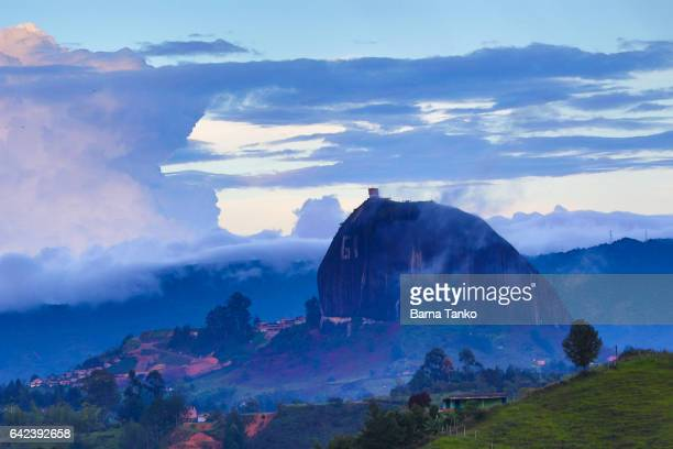 the guatape rock in colombia - guatapé stock pictures, royalty-free photos & images