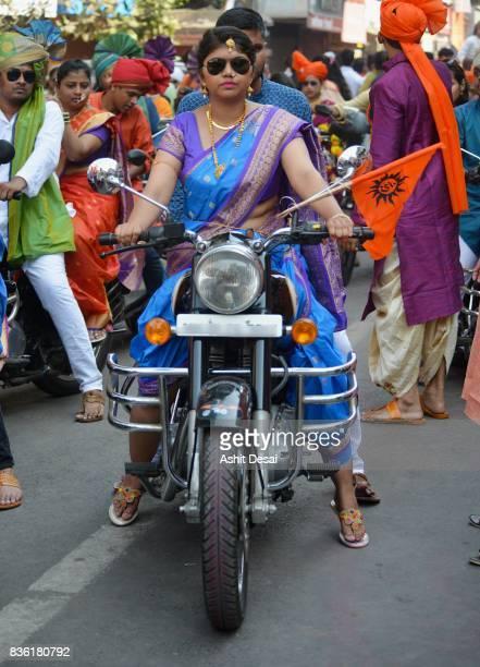 The Gudi Padwa festival celebration in Mumbai, India.
