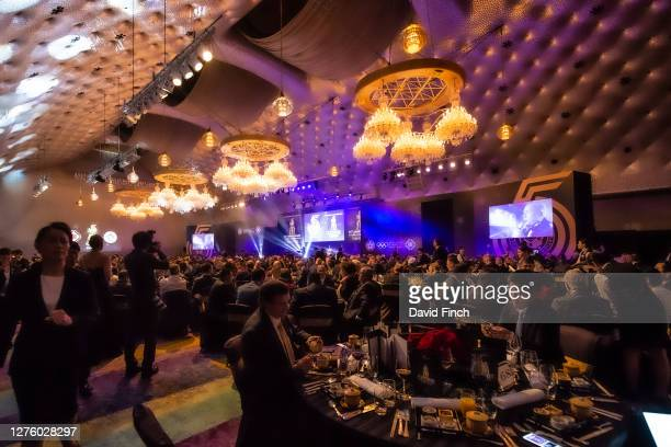 The guests are seated while renowned Romanian tenor, Marcel Pavel sings to them during the 2019 IJF Gala Dinner Celebrating 55 years of Judo as an...