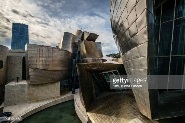 the guggenheim museum bilbao - finn bjurvoll stock pictures, royalty-free photos & images