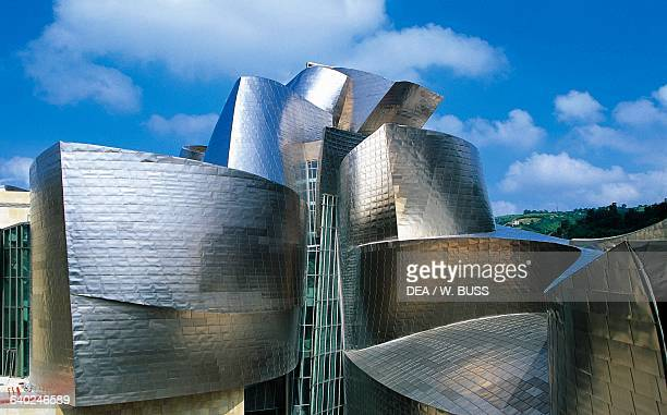 The Guggenheim museum in Bilbao by architect Frank Gehry Basque country Spain 20th century