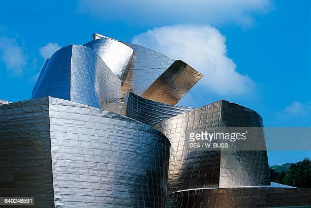 The Guggenheim museum in Bilbao by architect Frank Gehry , Basque country. Spain, 20th century.