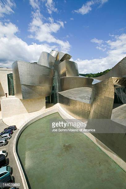 The Guggenheim Museum of Contemporary Art of Bilbao located on the North Coast of Spain in the Basque region Nicknamed 'The Hole' this is a...