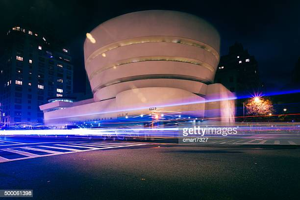the guggenheim, new york - solomon r. guggenheim museum stock photos and pictures