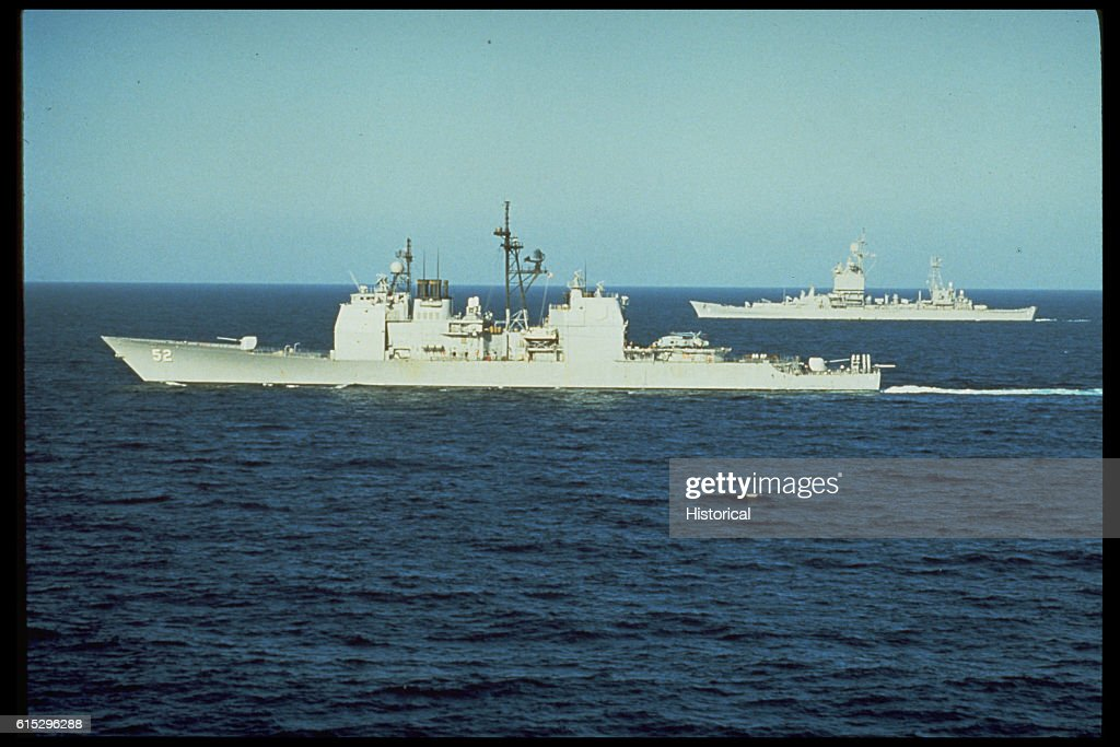 U.S. Cruisers in the Gulf of Oman : News Photo