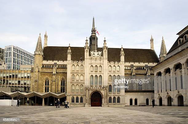 the guildhall, city of london - town hall stock photos and pictures