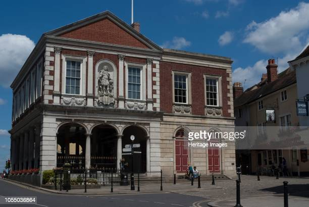 The Guildhall or town hall of Windsor located on the High Street in the centre of town building begun in 1687 but the design was taken over by Sir...