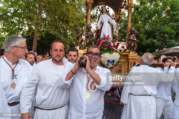 The Guillermo Mariotto an illustrious designer during the Solemn celebrations and procession in honor of Madonna del Carmine Our Lady of Roman...