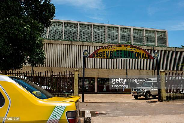 The Guinea national assembly also known as the parliament stands in Conakry Guinea on Saturday Sept 5 2015 While Guinea produces bauxite which is...