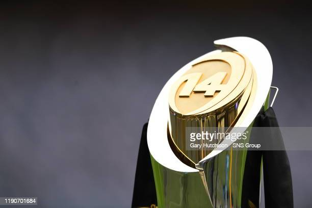 The Guinness Pro14 trophy ahead of the Guinness Pro14 match between Edinburgh Rugby and Glasgow Warriors at BT Murrayfield on December 28 in...