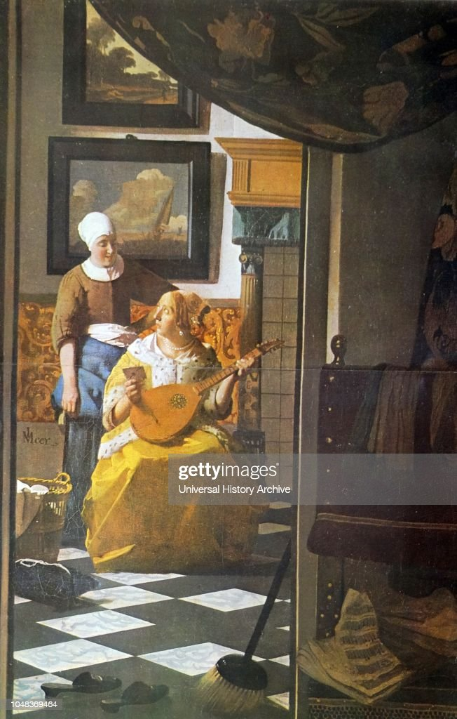 The Guitar Player is a 1672 painting by Jan Vermeer : News Photo