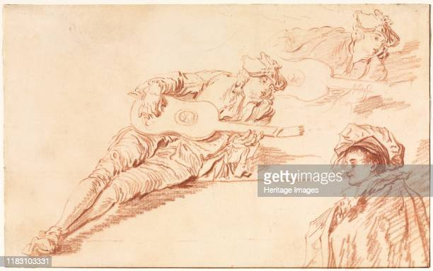 The Guitarist 1720s Like his illustrious master Watteau Pater specialized in fête galantes paintings that featured elegantly attired men and women in...