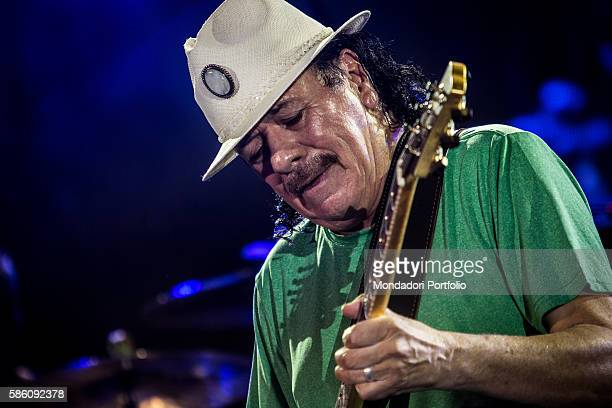 The guitarist Carlos Santana in concert at the Assago Summer Arena Assago Italy 21st July 2016