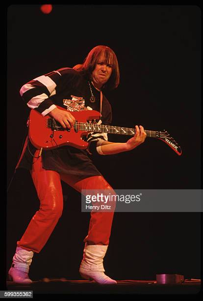 The guitarist for the rock band Iron Butterfly performs at the Atlantic Records 40th Anniversary Party in Madison Square Gardens