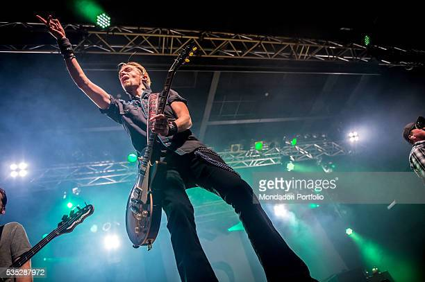 The guitarist of the Black Stone Cherry Ben Wells in concert Trezzo sull'Adda Italy 15th February 2016