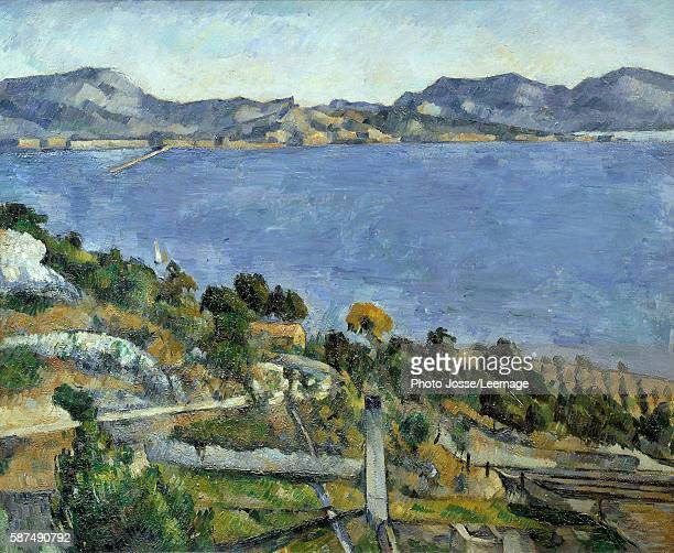 The Gulf of Marseille seen from L'Estaque Painting by Paul Cezanne 1878 059 x 073 m Orsay Museum Paris