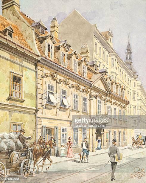 The Gumperdorstrasse in Vienna Austria 20th Century Watercolour