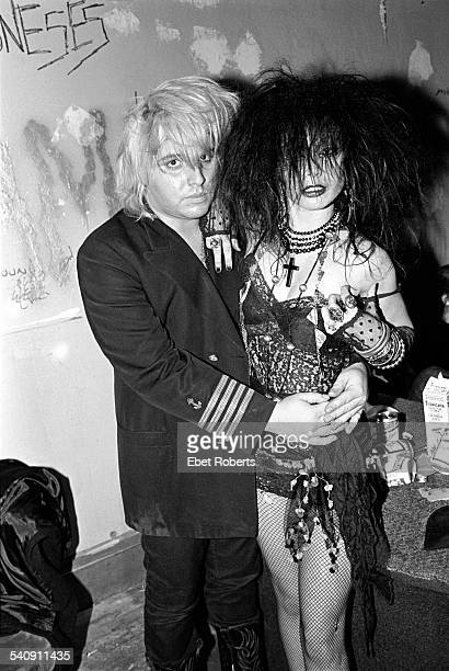 The Gun Club's Jeffrey Lee Pierce and Texacala Jones of Tex and the Horseheads at the Peppermint Lounge in New York City on November 11 1982