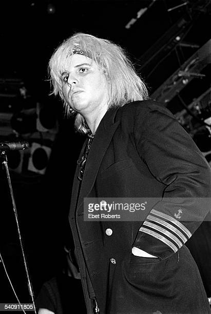 The Gun Club's Jeffrey Lee Pierce performing at the Peppermint Lounge in New York City on November 11 1982