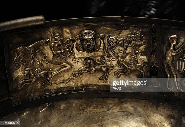The Gundestrup cauldron Decorated silver vessel thought to date between 200 BC and 300 AD placing it within the late La Tene period or early Roman...