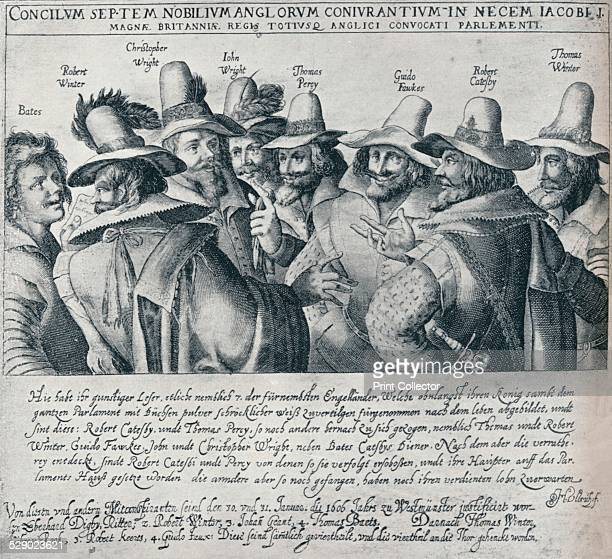 The Gunpowder Plot Conspirators and their Servant Bates 1605 Guy Fawkes and the Gunpowder Plotters 1605 Roman Catholic conspiracy to blow up English...