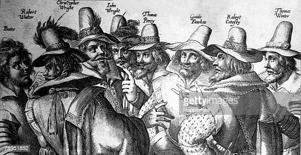 1605 The GunPowder plot conspirators meet to discuss the blowing up of the Houses of Parliment LR Bates Robert Winter Christopher Wright John Wright...