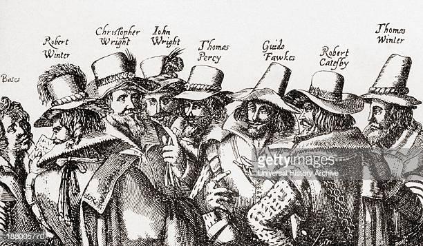 The Gunpowder Plotters From Left To Right Thomas Bates Robert Winter Christopher Wright John Wright Thomas PercyGuido Or Guy Fawkes Robert Catesby...