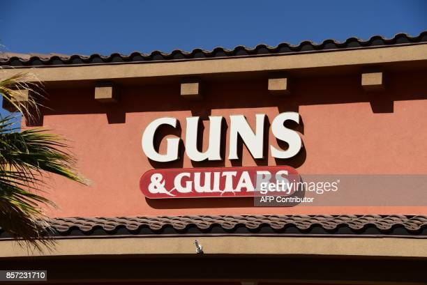 The Guns Guitars store is seen in Mesquite Nevada October 3 2017 Stephen Paddock who had purchased fire arms at Guns Guitars killed 59 people and...