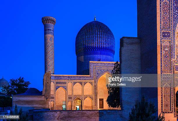 The Gur-e Amir or Guri Amir is a mausoleum of the Asian conqueror Tamerlane in Samarkand, Uzbekistan. It occupies an important place in the history...