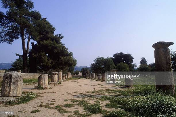 The Gymnasion at the site of the Ancient Olympic Games in Olympia in Greece