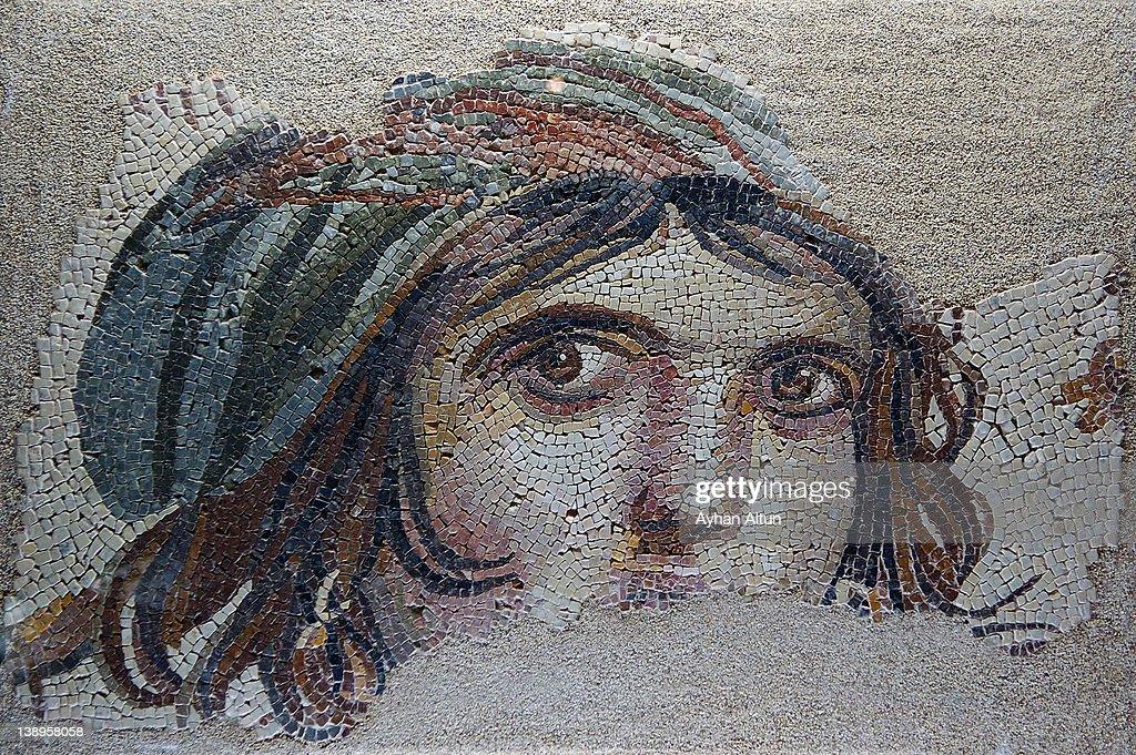 The Gypsy girl(GAIA) mosaic in Zeugma : Stock Photo