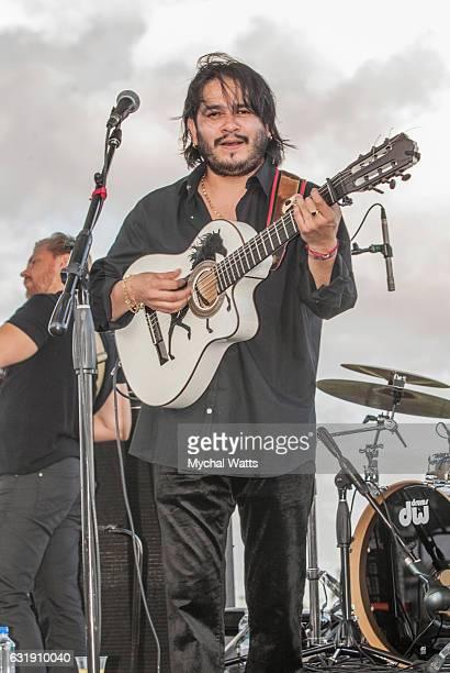 The Gypsy Kings Lead Guitar Player Cedric Leonardi at International Polo Club Palm Beach on January 16 2017 in Wellington Florida