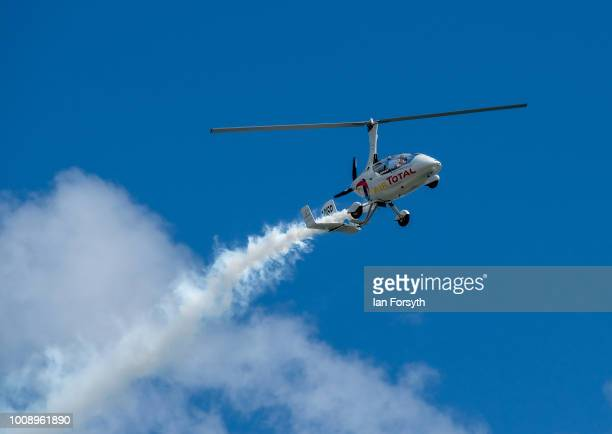 The Gyro Air Display performs during the 30th Sunderland International Air show on July 28 2018 in Sunderland England Held over three days on and...