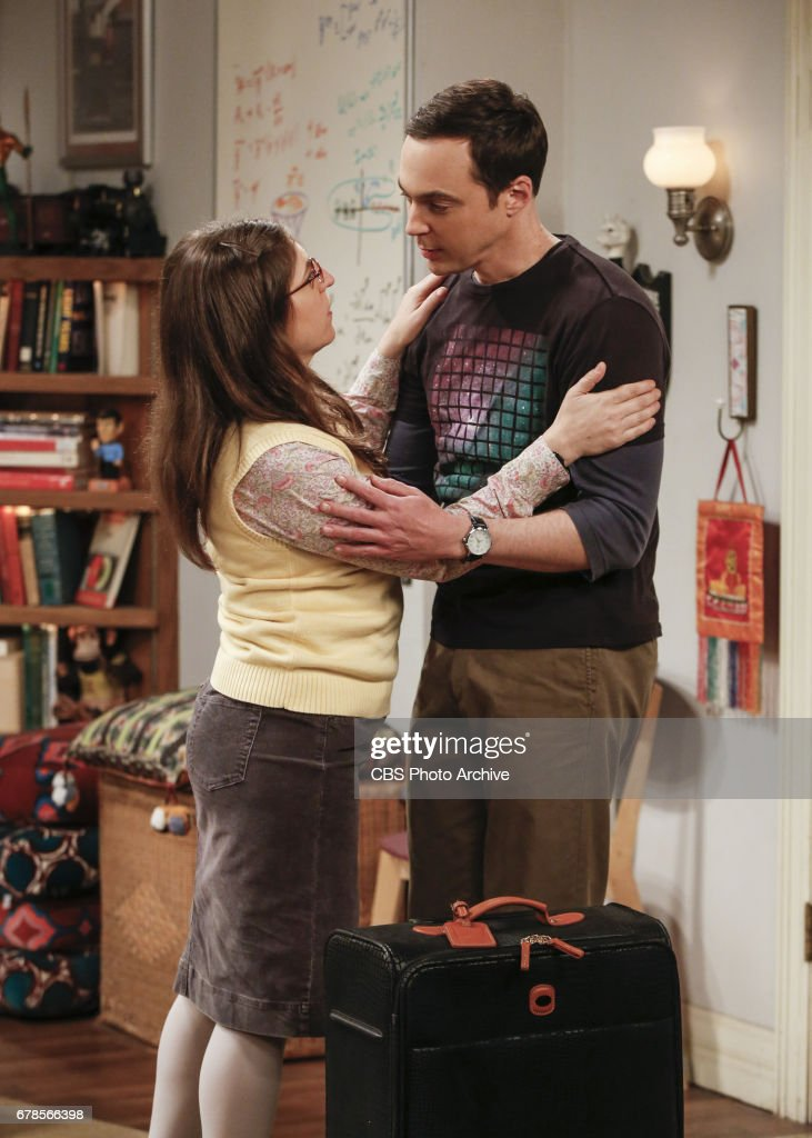 'The Gyroscopic Collapse' -- Pictured: Amy Farrah Fowler (Mayim Bialik) and Sheldon Cooper (Jim Parsons). After Leonard, Sheldon and Wolowitz celebrate the completion of the top secret air force project, they are met with an unpleasant surprise. Also, Amy is offered a summer position as a visiting researcher, on THE BIG BANG THEORY, Thursday, May 4 (8:00-8:31 PM, ET/PT), on the CBS Television Network.
