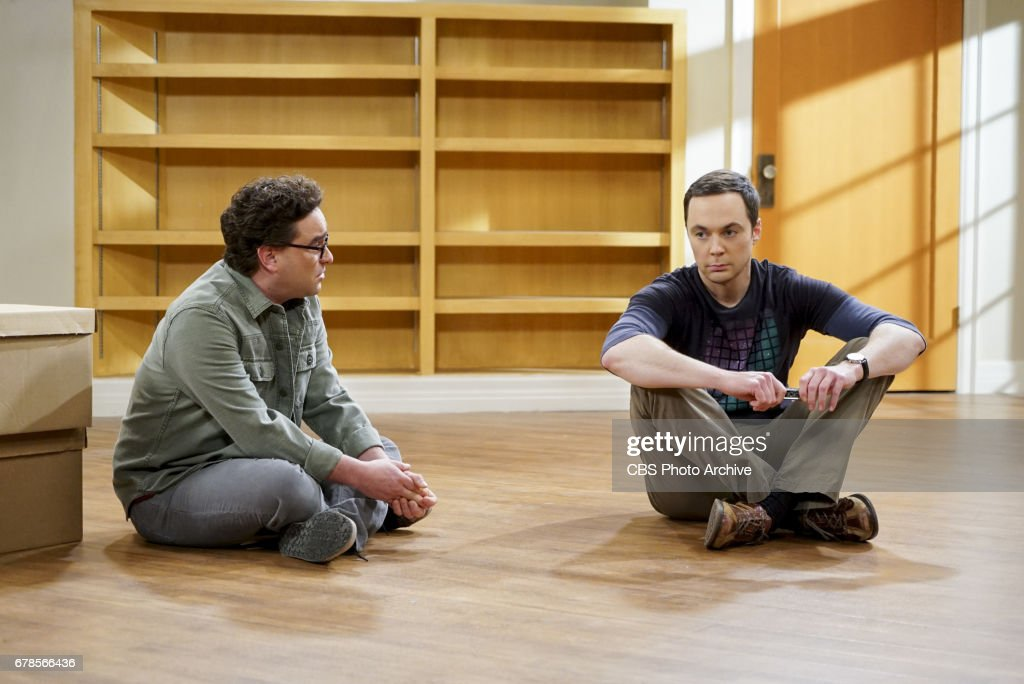 'The Gyroscopic Collapse' -- Pictured: Leonard Hofstadter (Johnny Galecki) and Sheldon Cooper (Jim Parsons). After Leonard, Sheldon and Wolowitz celebrate the completion of the top secret air force project, they are met with an unpleasant surprise. Also, Amy is offered a summer position as a visiting researcher, on THE BIG BANG THEORY, Thursday, May 4 (8:00-8:31 PM, ET/PT), on the CBS Television Network.