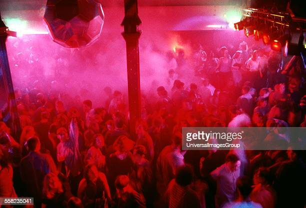 The Hacienda main dancefloor, Manchester 1989.