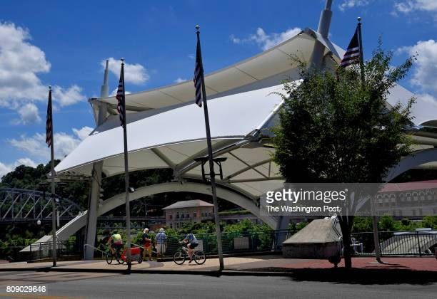 The Haddad Riverfront Park and Pavilion is literally right out the front door of the Four Points by Sheraton Hotel on Kanawha Blvd in Charleston...