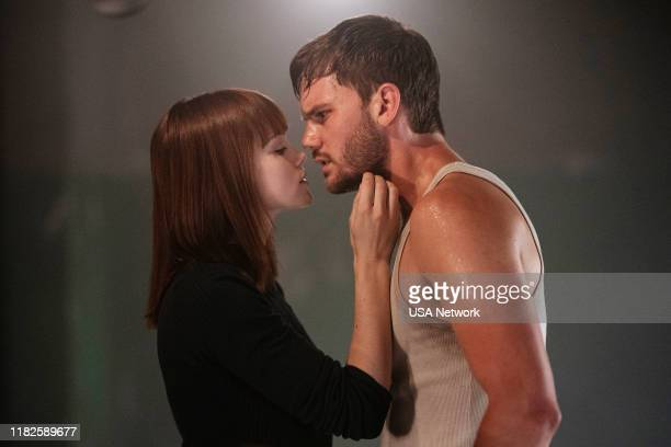 """The Hades Awakening"""" Episode 106 -- Pictured: Emilia Schüle as Young Petra, Jeremy Irvine as J. Randolph Bentley --"""